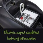Electric moped simplified battery information