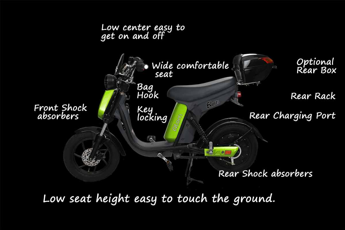 Evolts V3 get the latest street legal electric moped 12