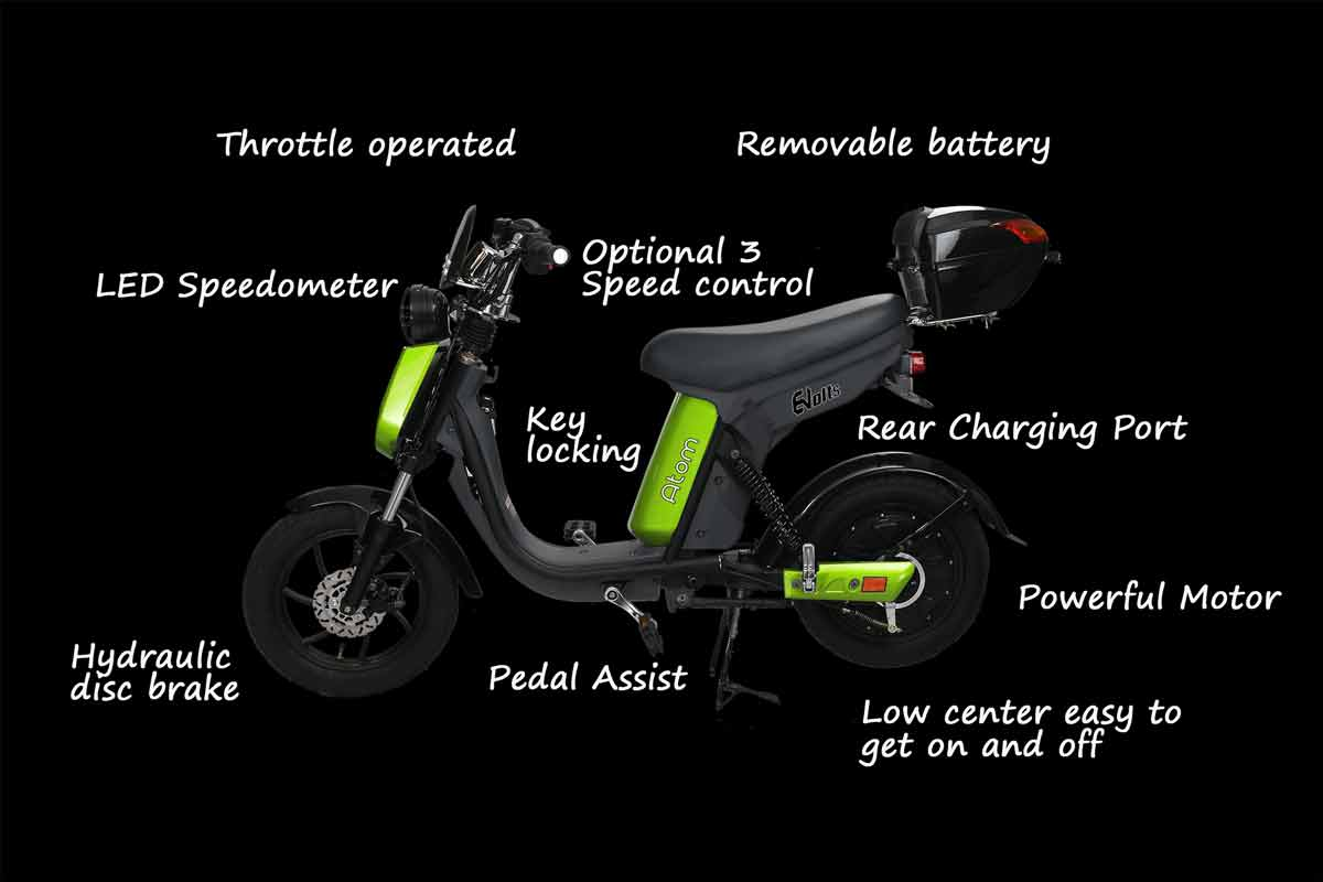 Evolts V3 get the latest street legal electric moped 14