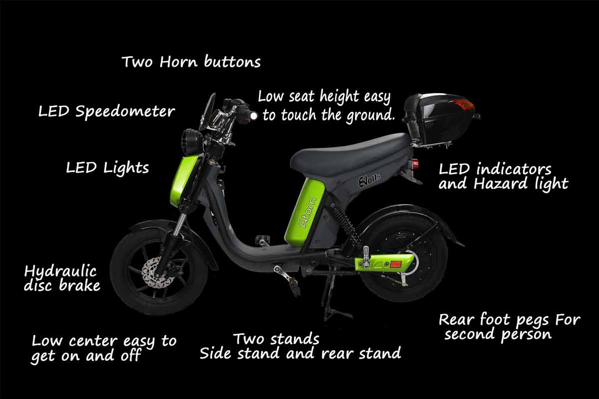 Evolts V3 get the latest street legal electric moped 13