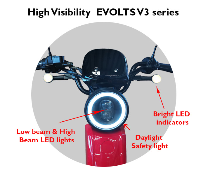 Evolts V3 get the latest street legal electric moped 2