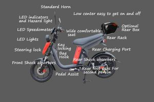 Evolts Electric Mopeds New Version Three 13