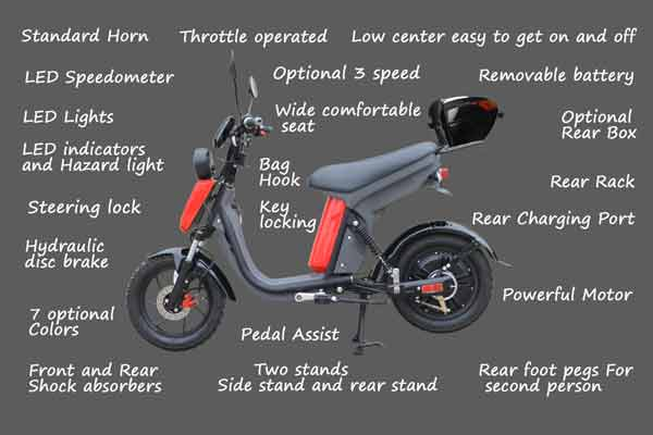 Evolts Electric Mopeds New Version Three 11