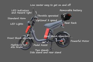 Evolts Electric Mopeds New Version Three 12